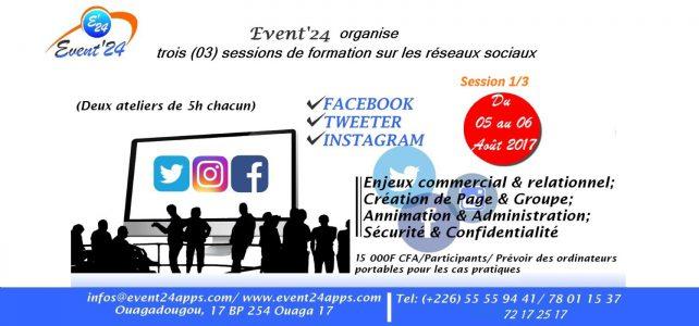 Formation réseaux sociaux Facebook – Twitter- Instagram